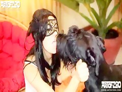 Family's dog lick wife 2