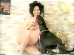 MILF sucking Dog and Husband