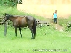 Sexy girl has sex with horse part 2 of 3