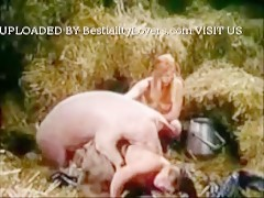 Bodil N Friend With Pig