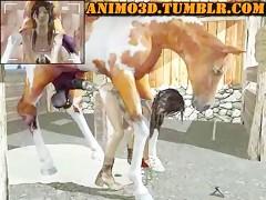 Bestiality cartoons big horse coock